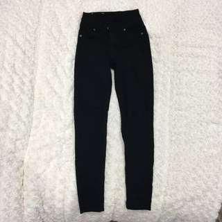 Cheap Monday High Rise Black Jeans (26/27)