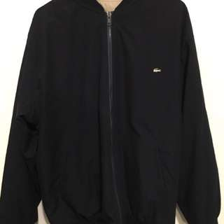 Lacoste Men's Reversible Bomber Jacket With Sliver Logo