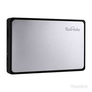 """Brand New Spinido Hard Disk Enclosure USB 3.0 Support 2.5"""" SATA HDD or SSD (9.5mm Height)"""
