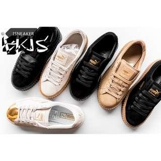 BTS 防彈少年團 x PUMA 厚底鞋 多款可選 Suede Platform 慢跑鞋 情侶鞋 運動鞋 跑鞋 蝴蝶結