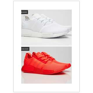 adidas NMD R1 Runner Primeknit boost 聖保羅 休閒鞋 運動鞋 粉色 白藍色 女鞋 男