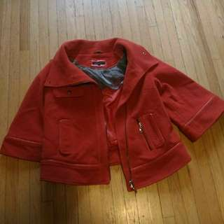 burnt orange rudsak jacket size small
