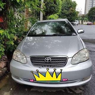 2004 Casa Maintained Toyota Altis( Negotiable)