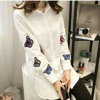 Butterfly 🦋 patches motifs blouse shirt