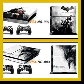 PS4 SKIN + TWO CONTROLLER SKINS