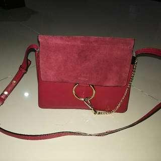 Red sling bag , Chloe look alike