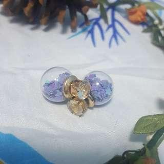 Korean Double Sided Earrings (Purple)