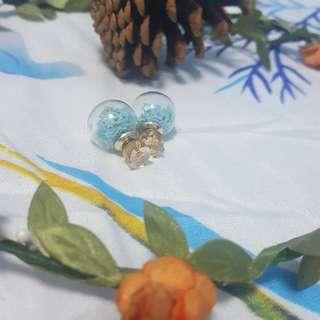 Korean Double Sided Earrings (Blue)