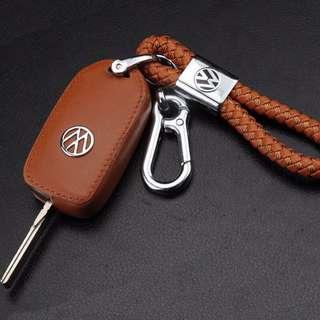 VW Volkswagen leather key case (Brown)
