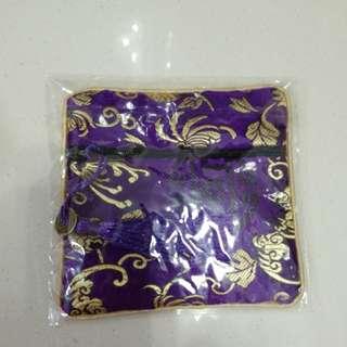 中國風紫色小包