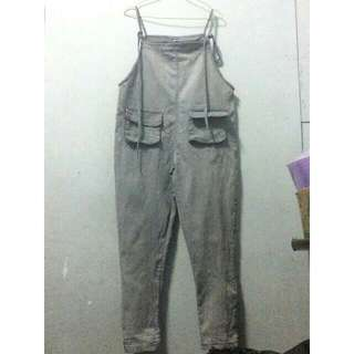 Overall gray/jumpsuit/baju kodok