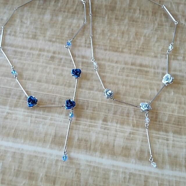 藍玫瑰項鍊
