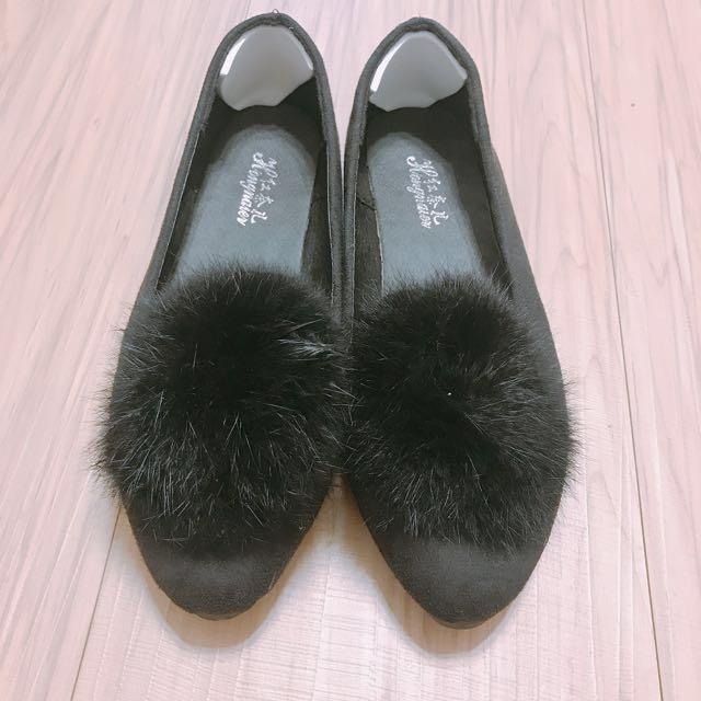 ♥️毛毛兒時尚百搭平底娃娃鞋♥️
