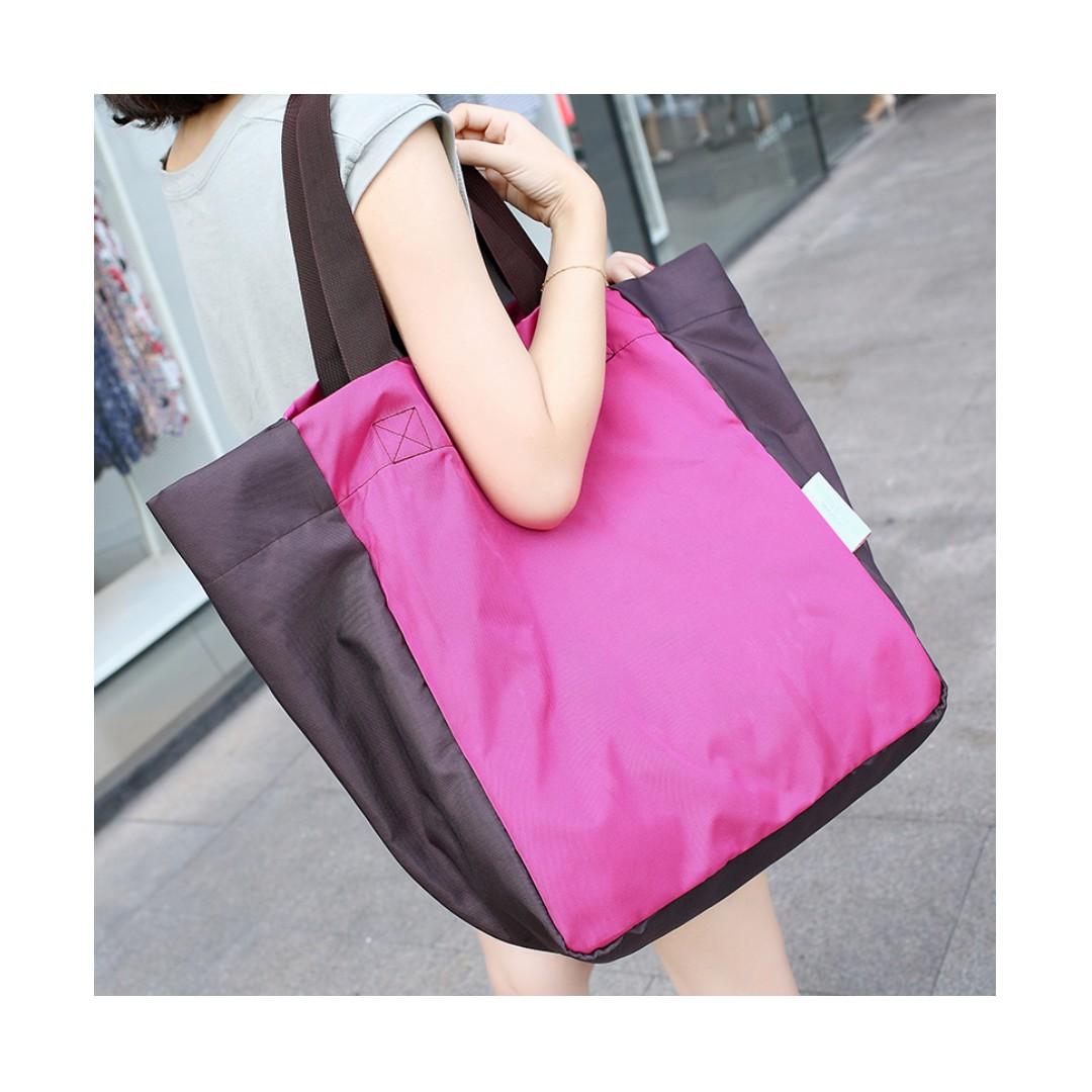 摺疊便攜大容量購物袋 上學包媽媽包 防水可手提單肩背 質好耐重