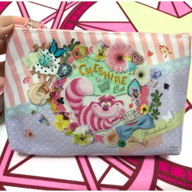 正版 迪士尼 愛麗絲 妙妙貓 化妝包 防水化妝包🌸