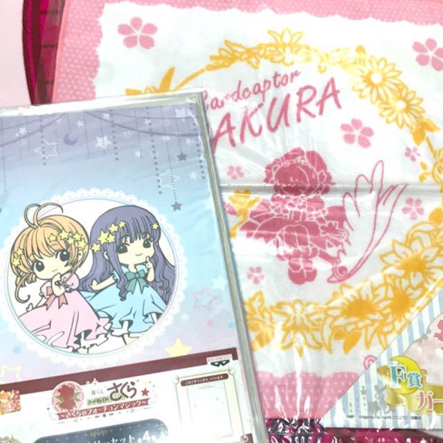 現貨🌸 庫洛魔法使 小櫻 知世 一番賞 筆記本 資料夾 手帕 手巾