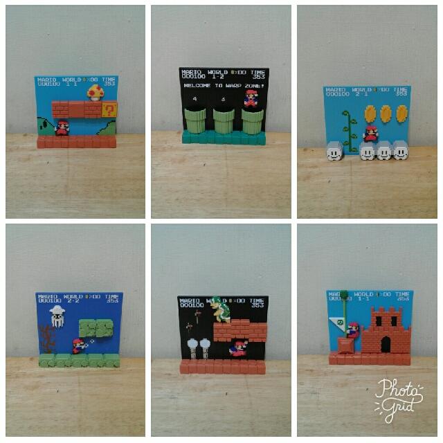 超級瑪利歐 遊戲畫面 STAGE FIGURE 場景組 盒玩