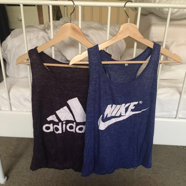 Adidas and Nike training tops