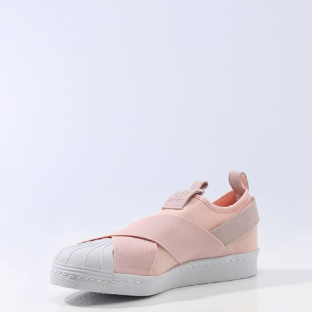 Adidas Superstar Slip - on rosa bebe, Moda Mujer, zapatos carousell