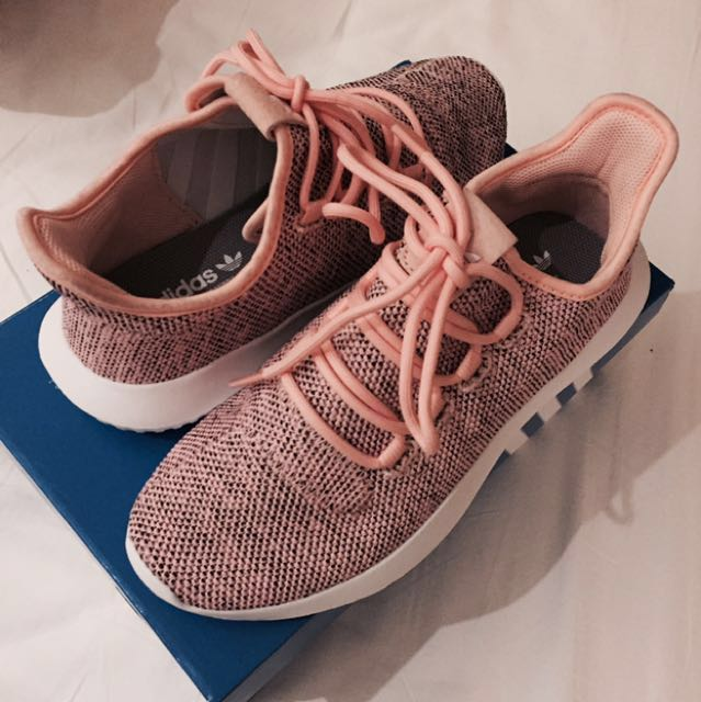best sneakers 82579 4669a ADIDAS TUBULAR SHADOW KNIT PINK, Women's Fashion, Shoes on ...