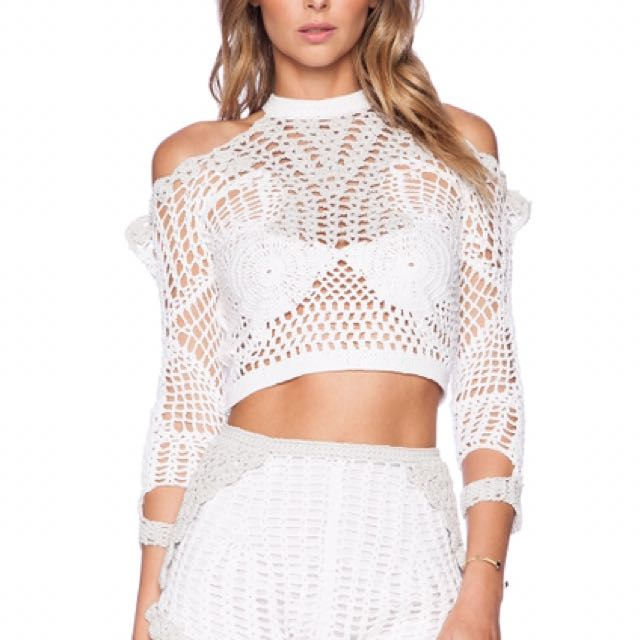 """ALICE MCCALL """"A Change From"""" Crochet Top - Size 8"""