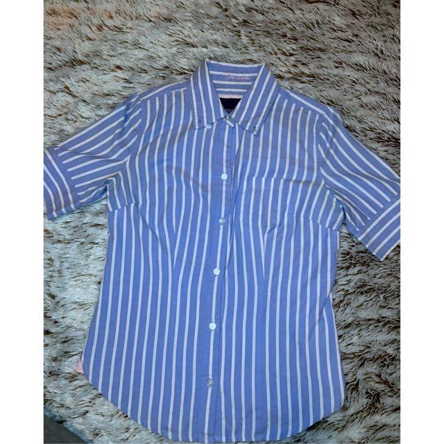American Eagle Stripped Short Sleeve Shirt
