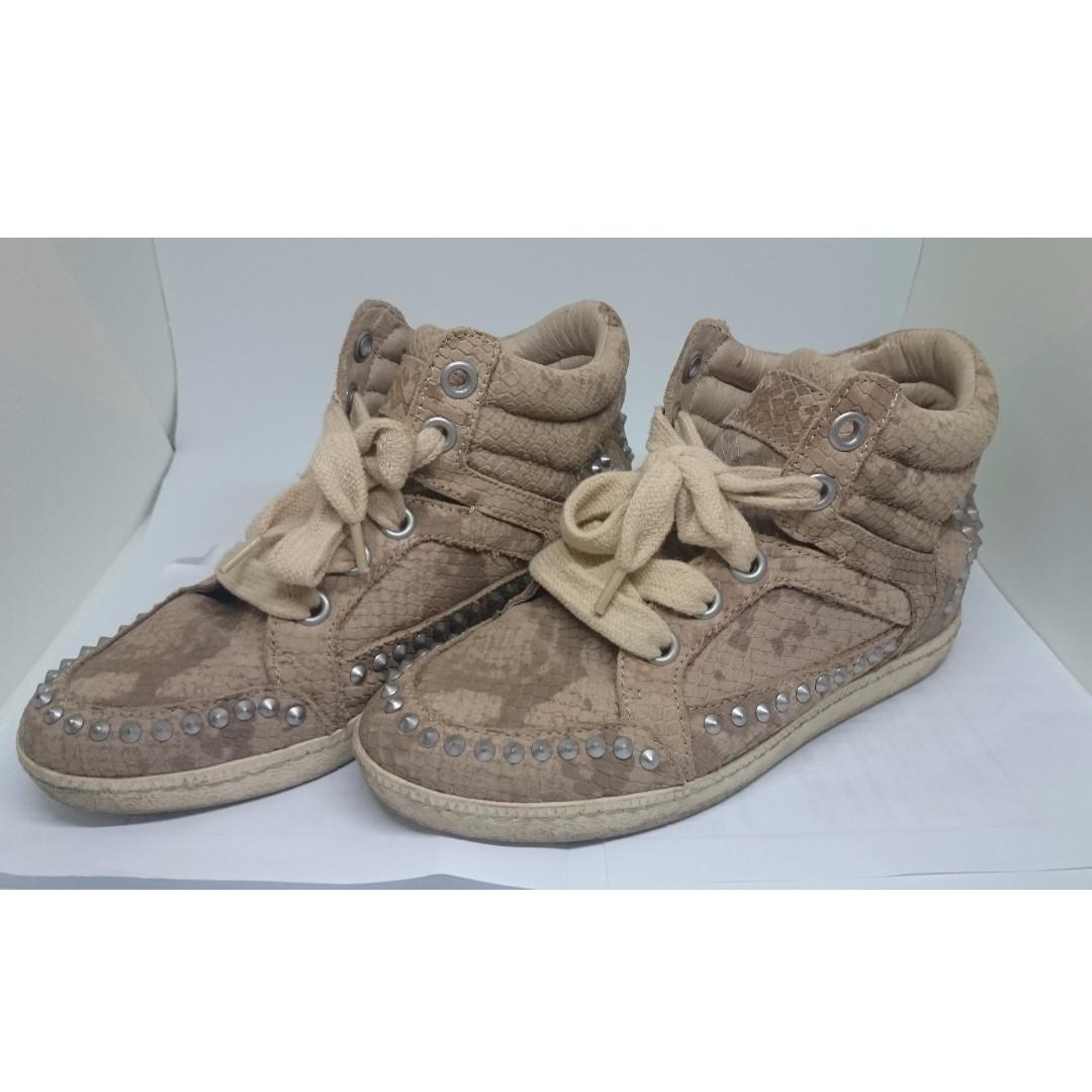 Ash 蘇花猴同款鞋 鉚釘豹紋球鞋