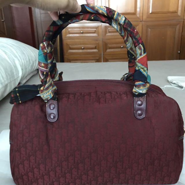 Authentic Christian Dior vintage Boston bag