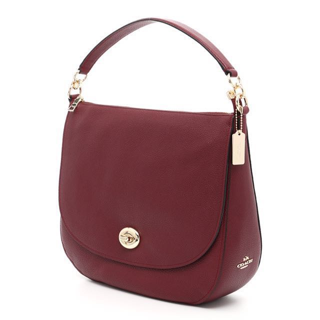 Authentic COACH Turnlock Hobo Handbag 1e8ab745f4e30