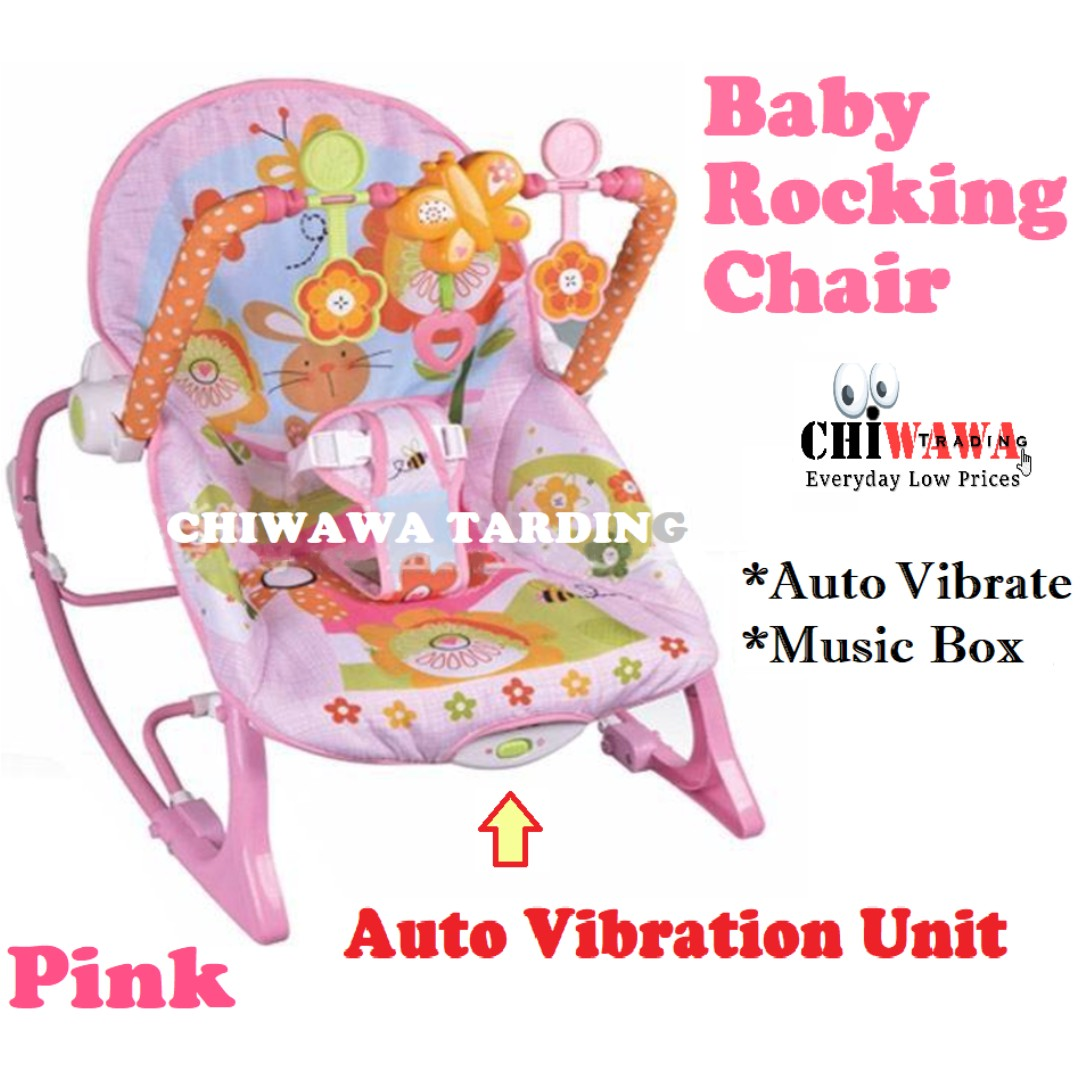 7446ff5a931 Auto Vibration Baby Rocking Chair Recliner Cradle + Music Box + Toy ...