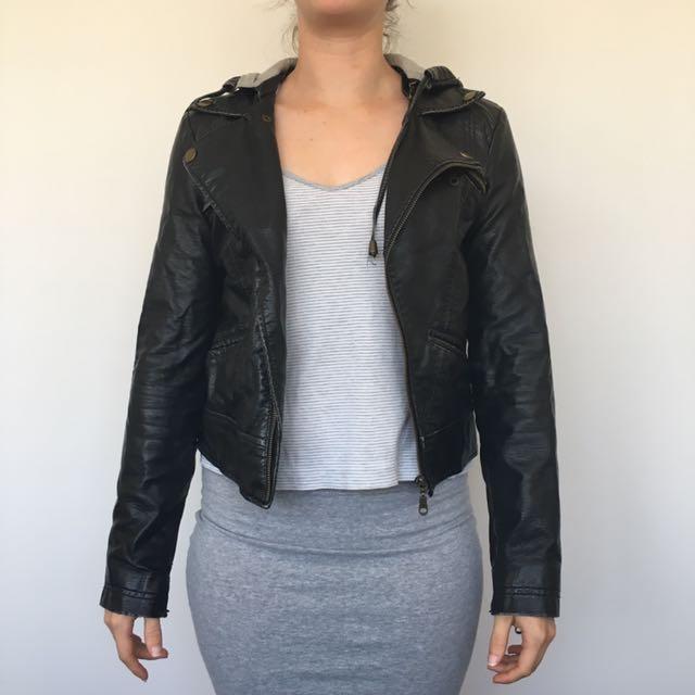 Billabong Leather-look Jacket Sz 8