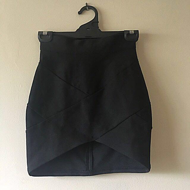 Black Bandage Skirt