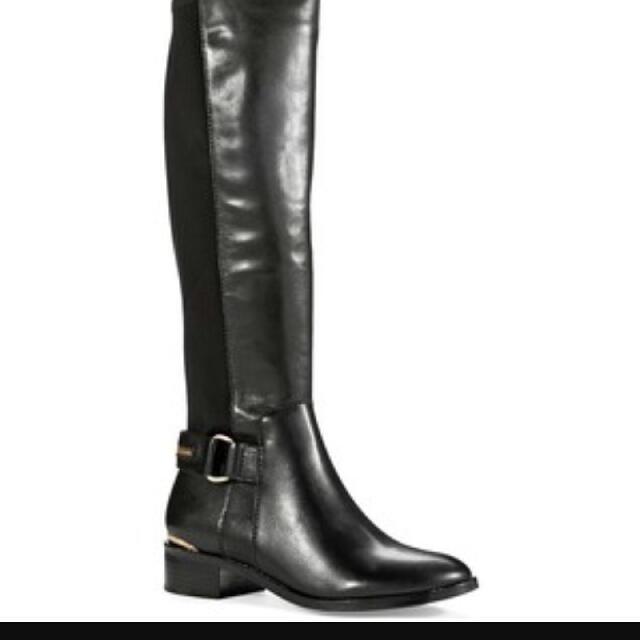 Black Steve Madden knee high boots size 5.5