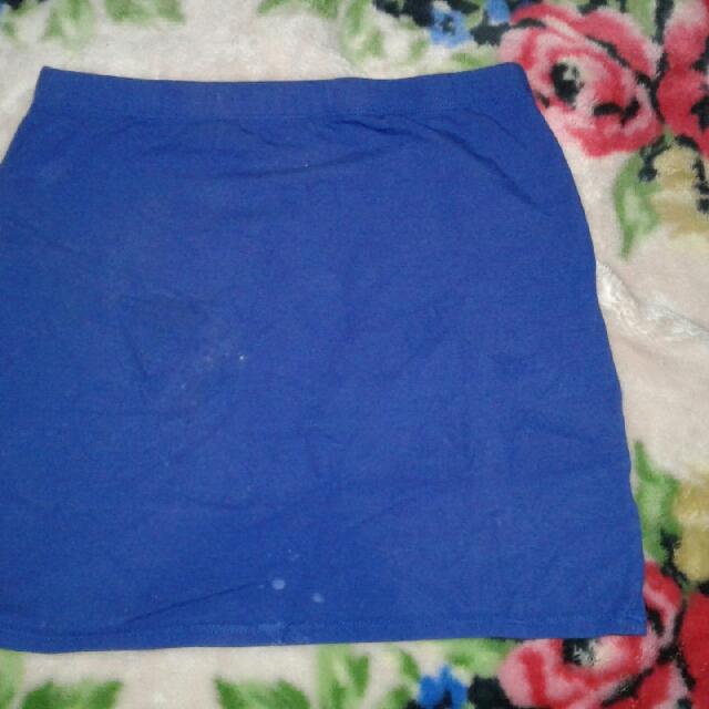 Blue garterized skirt