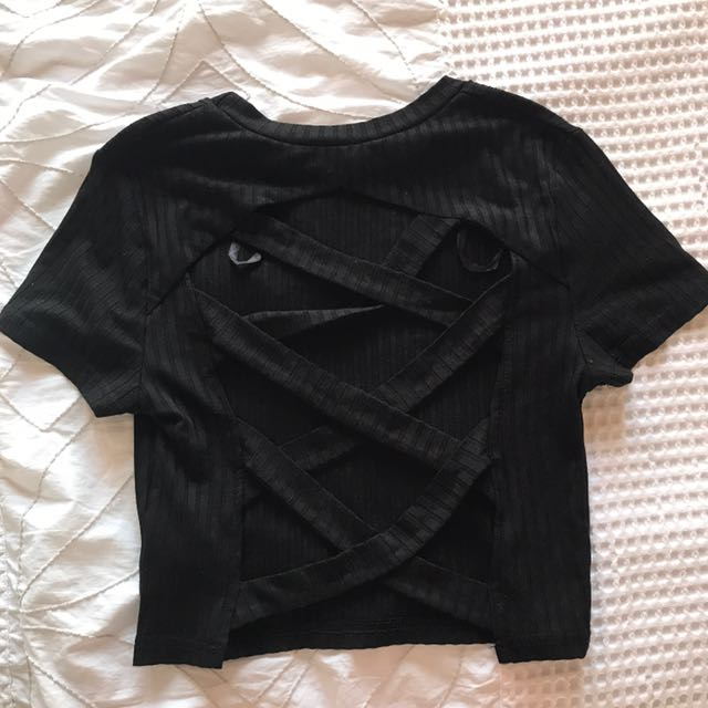 BNWT black detailed top