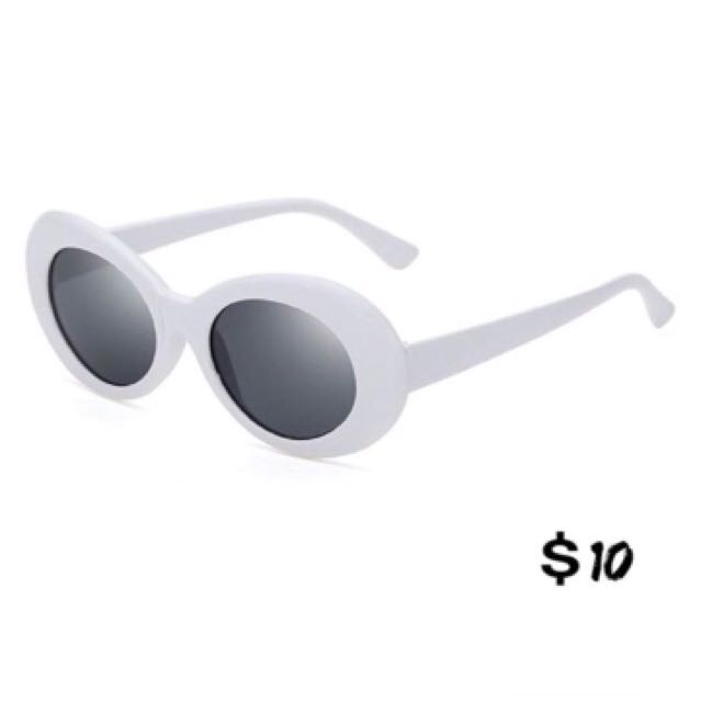 Brand New White Oval Sunglasses