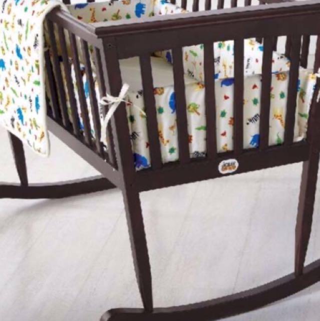 Brown Wooden Cradle