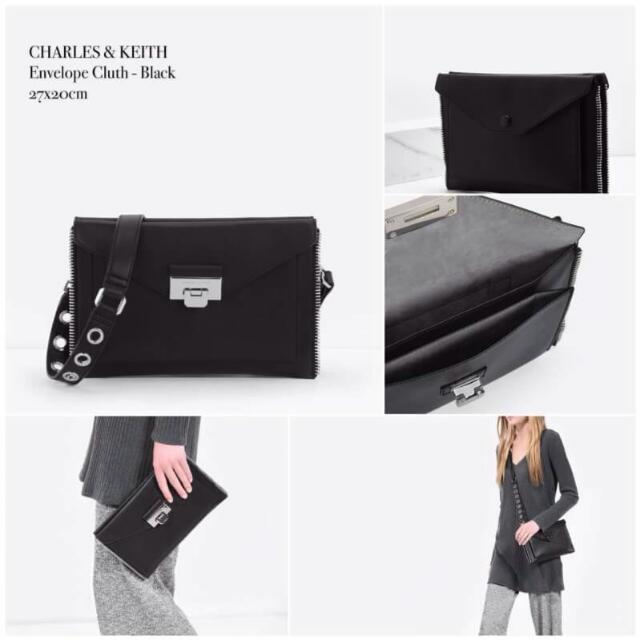 Charles And Keith Envelope Clutch