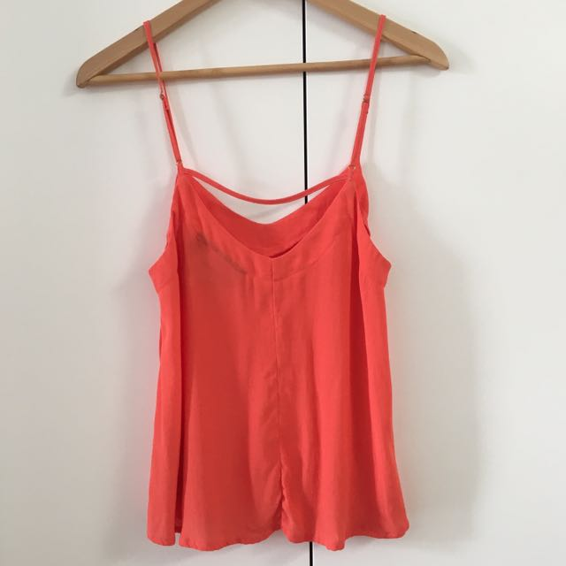 Coral Low Back Top