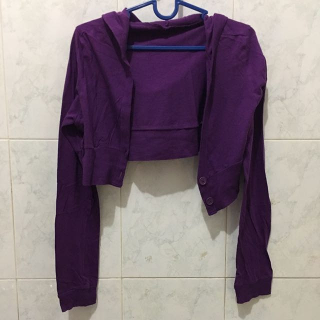 Crop outer hoodie