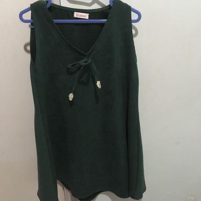 Cute Green Mini Dress