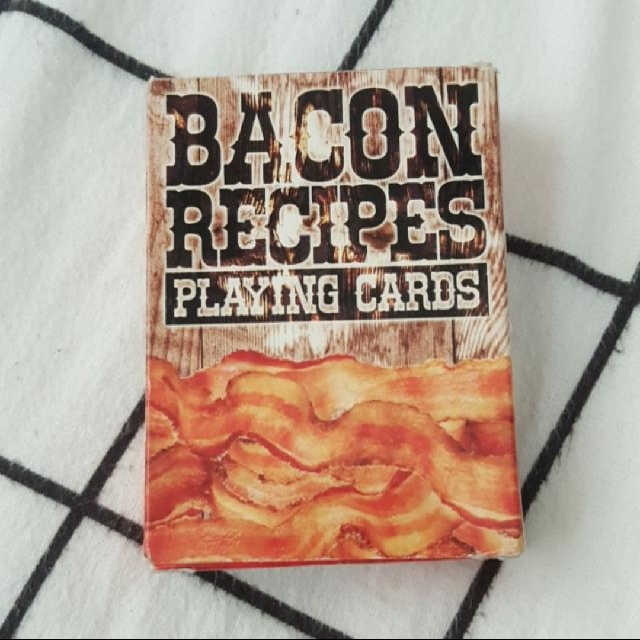deck of playing cards - bacon recipes