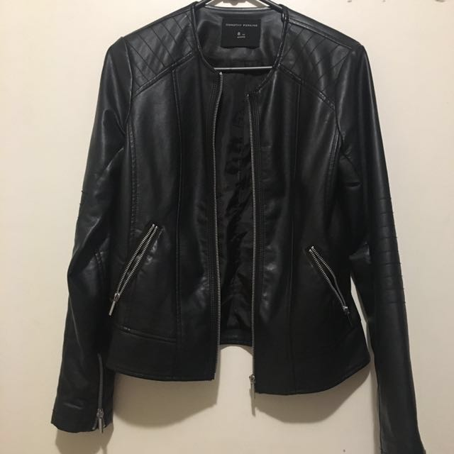 dorothy perkins faux leather jacket