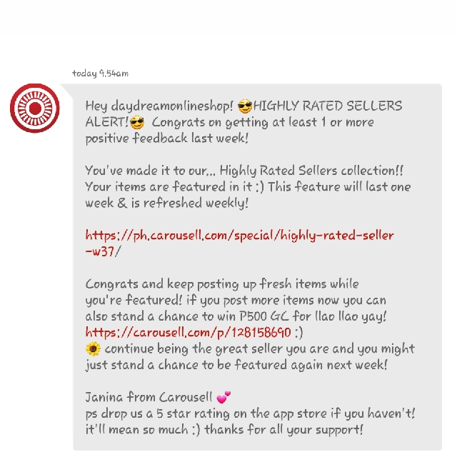 Featured for the 10th Time. Thank You Carousell ♡