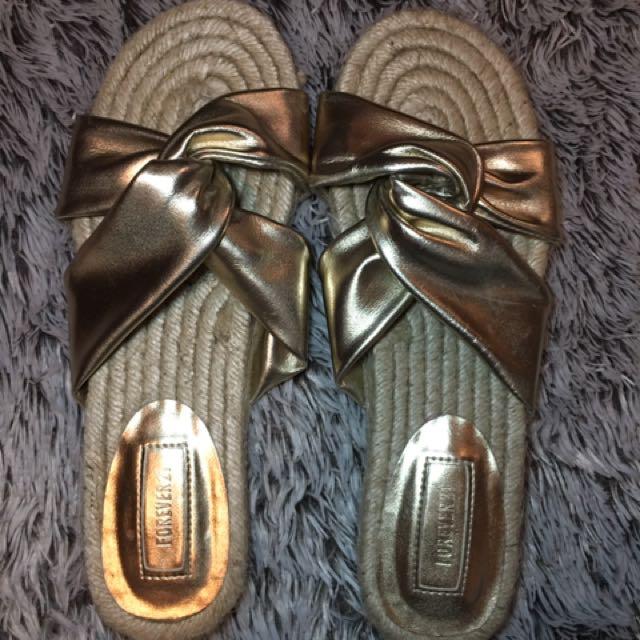 Forever 21 Gold Sandals