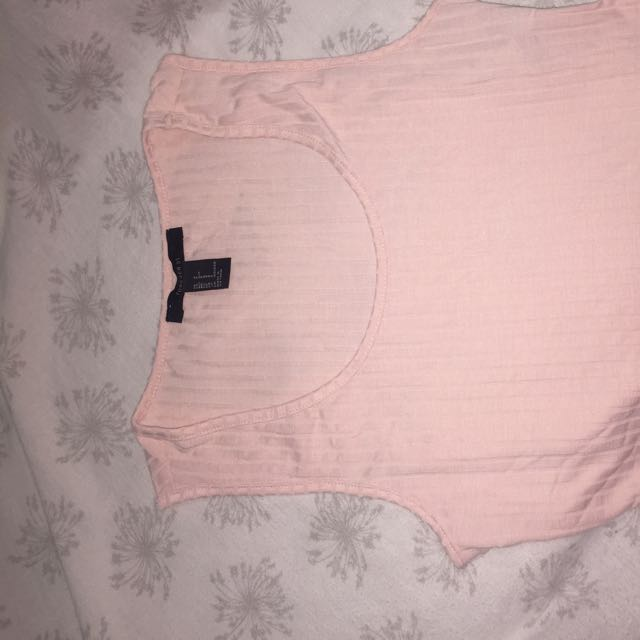 FOREVER 21 Light Pink Ribbed Crop Tank