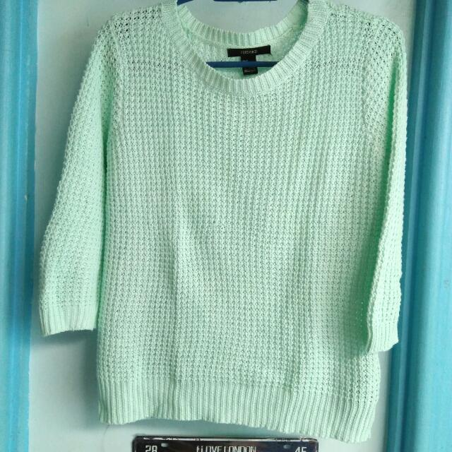 Forever 21 Mint Green Pullover