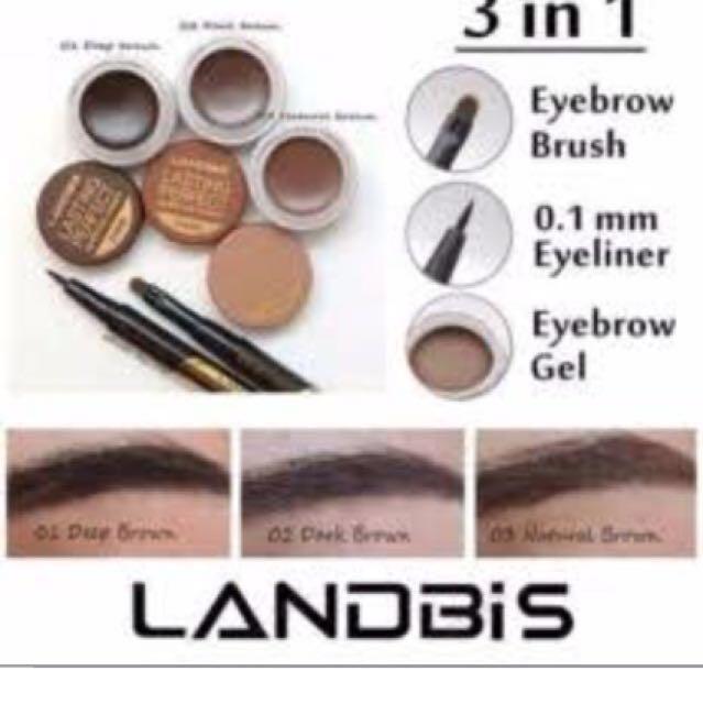 FREE ONGKIR : landbis eyebrow & eyeliner spidol