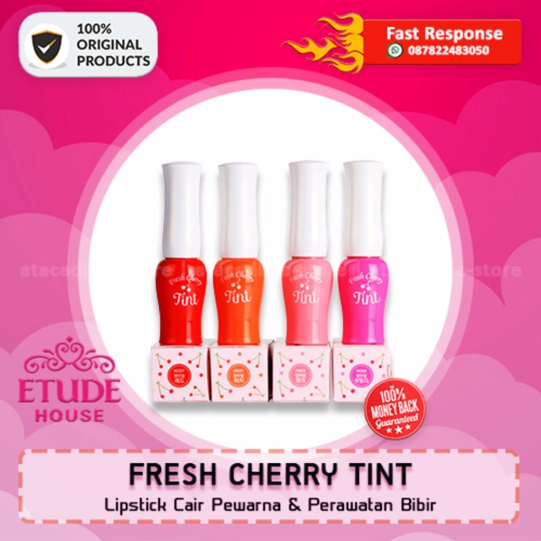FRESH CHERRY TINT ETUDE HOUSE - Lipstik Cair Pewarna Bibir - Original