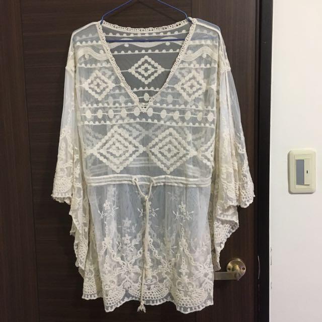 *轉賣FS菲馨*民族風寬袖透膚罩衫